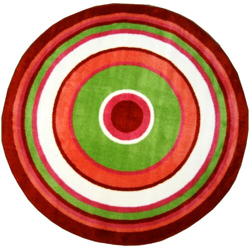 Fun Rugs Fun Shape High Pile Concentric Circles Kids Rug