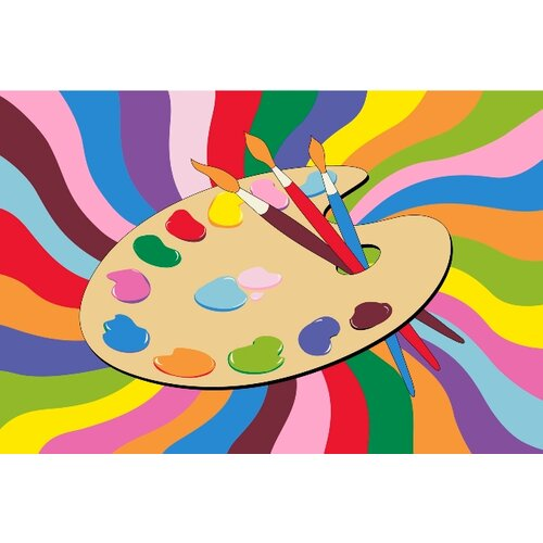 Fun Rugs Fun Time Painting Time Kids Rug