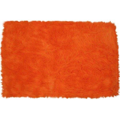 Fun Rugs Flokati Orange Kids Rug