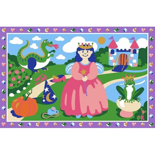 Fun Rugs Olive Kids Happily Ever After Princess Kids Rug