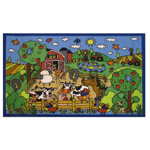 Fun Rugs Fun Time Happy Farm Kids Rug