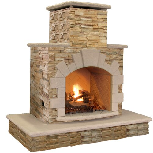 Natural Stone P... Outdoor Propane Gas Fireplace