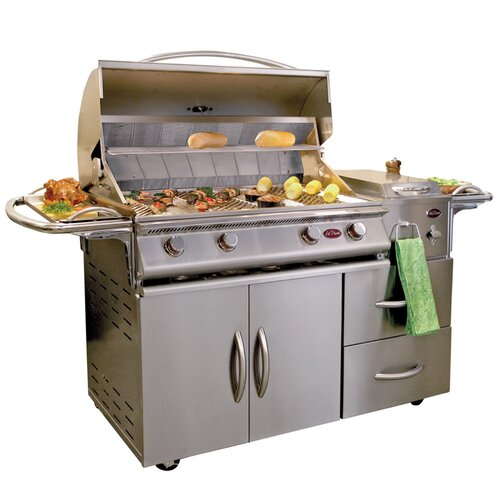 "CalFlame 80"" A-LA-Cart Deluxe 4 Burner Gas Grill  with Side Burner"