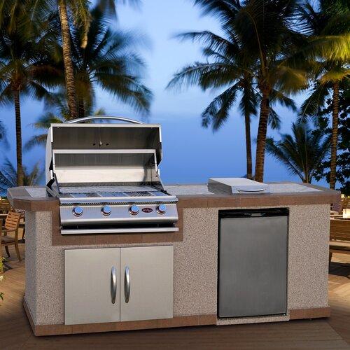 "CalFlame 96"" BBQ Island 4 Burner Gas Grill"