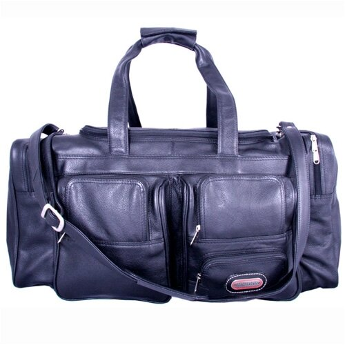 "Leatherbay 24"" Leather Travel Duffel"