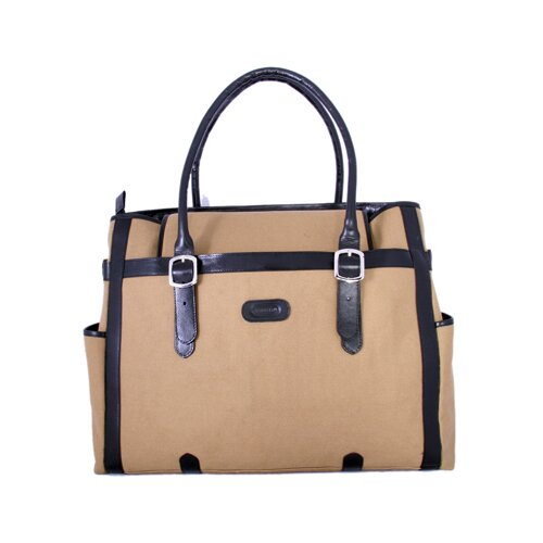 Laptop Compatible Zipper Fabric Tote Bag