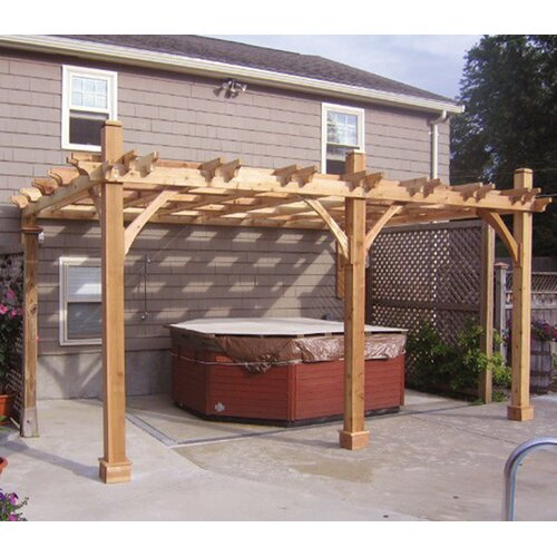 "Outdoor Living Today Breeze 9' H x 21' 6"" W x 13' 6"" D Pergola"