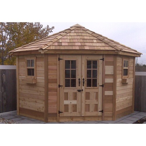 Outdoor Living Today 9 Ft W X 9 Ft D Wood Garden Shed Reviews Wayfair