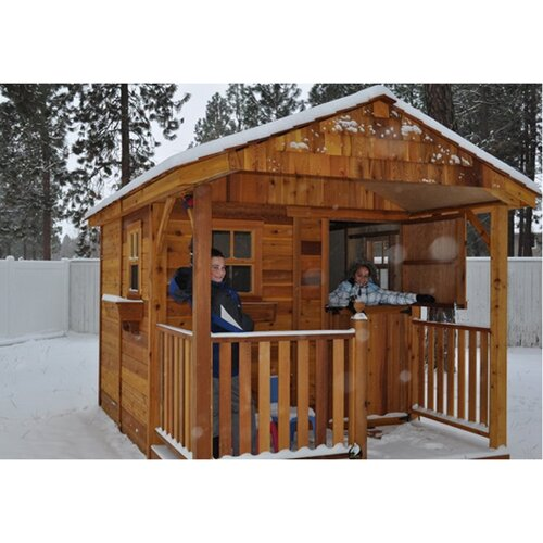 Outdoor Living Today Santa Rosa 8 Ft W X 12 Ft D Wood Storage Shed Re