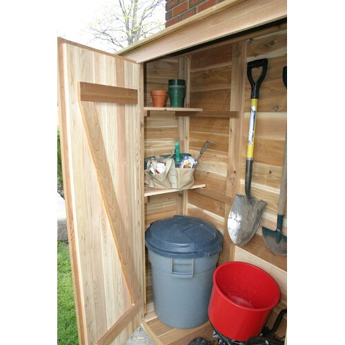"""Outdoor Living Today Garden Chalet 6'6"""" W x 3'2"""" D Wood Lean-To Shed"""