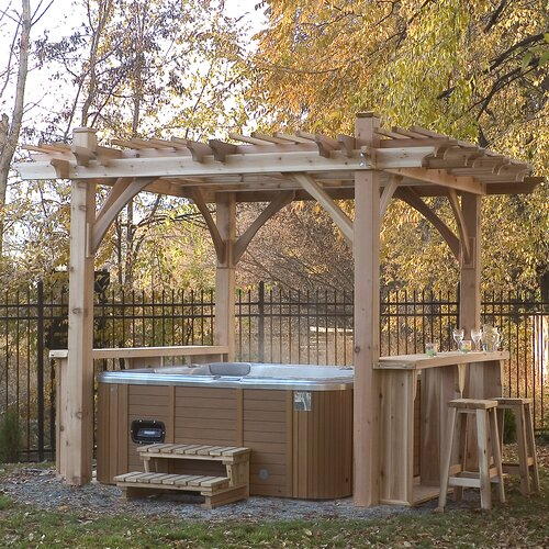 Spa Breeze 9' H x 12' W x 11' D Pergola