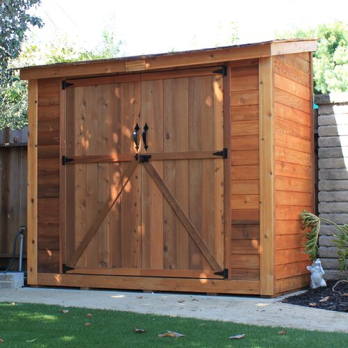 Outdoor Living Today SpaceSaver 9 Ft W X 5 Ft D Wood Lean To Shed Rev