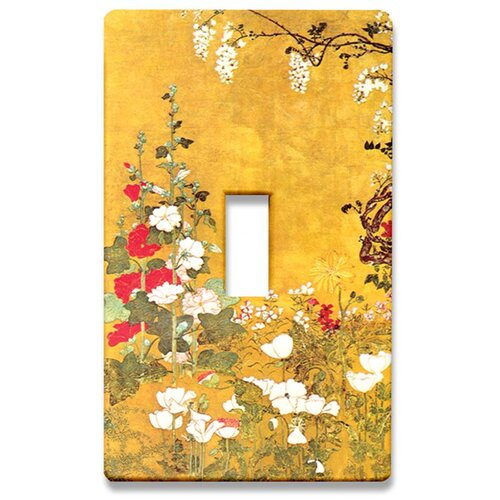 Japanese Flowers Decorative Light Switch Cover - Single Toogle Switch