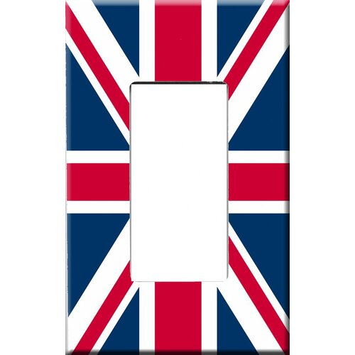 HomePlates Worldwide Artitude Union Jack Decorative Light Switch Cover - Single Rocker Switch