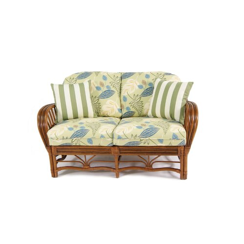 Boca Rattan Amarillo Leather Loveseat