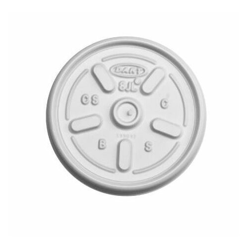 DART® 8 oz Plastic Lids Hot/Cold Foam Cups Vented
