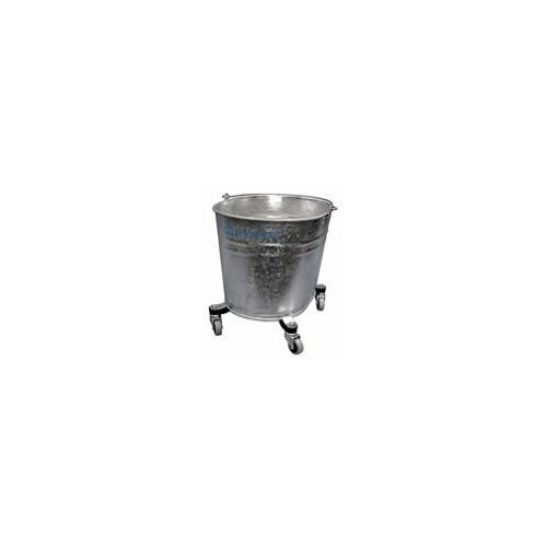"Geerpres® Seaway Galvanized 35 Quart Oval Mop Bucket with 2"" Casters"