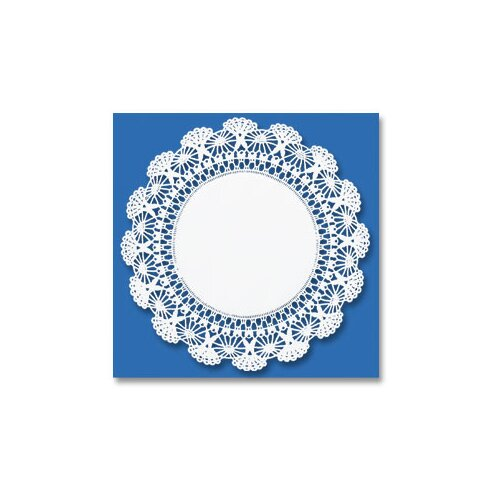"HOFFMASTER® 10"" Round Cambridge Lace Doilies in White"