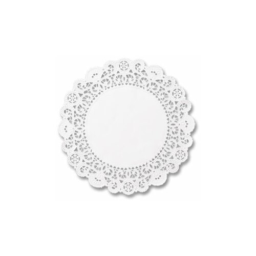 "HOFFMASTER® 5"" Round Brooklace Lace Doilies in  White"
