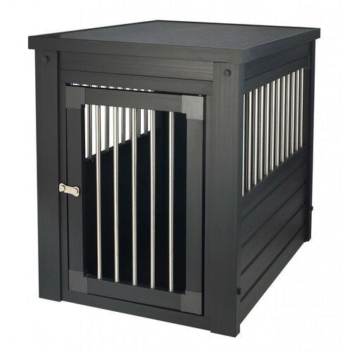 new age pet ecoflex dog crate end table with stainless With steel dog crates kennels