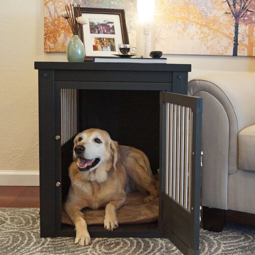 New Age Pet Ecoflex Dog Crate End Table With Stainless