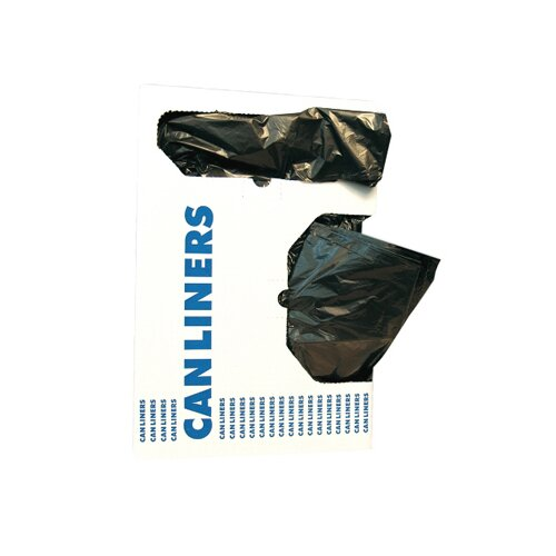 Reprime 1.3 Mil Low-Density Can Liner in Black, 20/Box