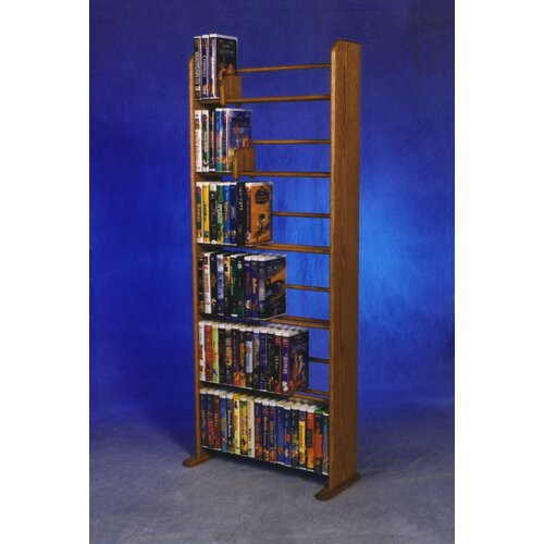 Delux VHS Dowel Multimedia Storage Rack