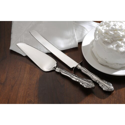 Oneida Bridal Flatware Michelangelo Cake Knife and Server Set