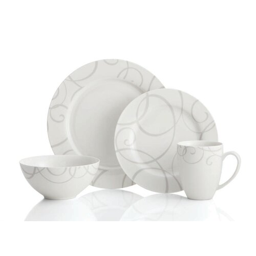 Symphony Grey 16 Piece Dinnerware Set