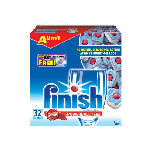 Finish 23 Oz Powerball Dishwasher Tabs - Fresh Scent (32 Per Box, 8 Boxes Per Case)