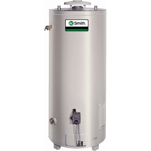 Commercial Tank Type Water Heater Nat Gas 65 Gal Conservationist 65,000 BTU Input Single Flue ...