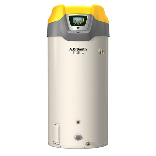 A.O. Smith Commercial Tank Type Water Heater Nat Gas 100 Gal Cyclone Xi 250,000 BTU Input High Efficiency