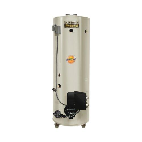 Commercial Tank Type Water Heater Nat Gas Conservationist 199,000 BTU Input Powered Burner