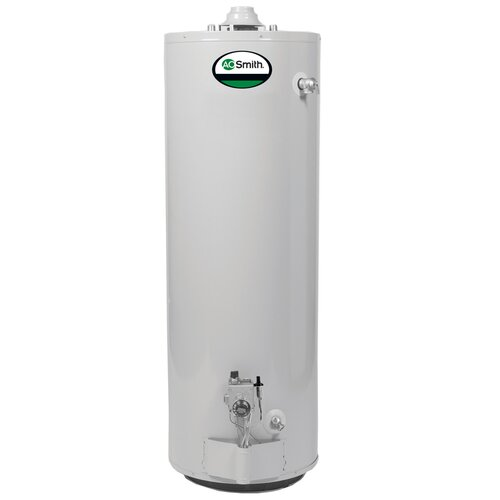 A.O. Smith GCVL-40 Water Heater Residential Nat Gas 40 Gal ProMax 40,000 BTU Short 6yr Limited Warranty