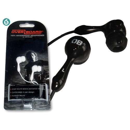 Overboard Waterproof Headphones in Black