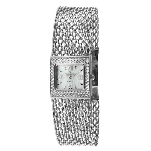 Peugeot Women's Swarovski Elements Bracelet Watch in Silver Tone