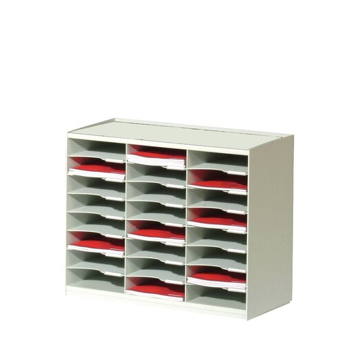 Paperflow Master Literature Organizers with 24 Compartments in Grey