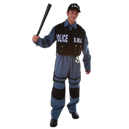 Dress Up America Deluxe Adult's S.W.A.T. Police Office Adult's Costume