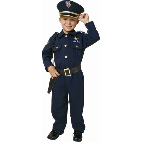Dress Up America Award Winning Deluxe Police Dress Up Children's Costume Set