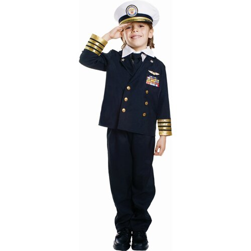 Dress Up America Navy Admiral Children's Costume