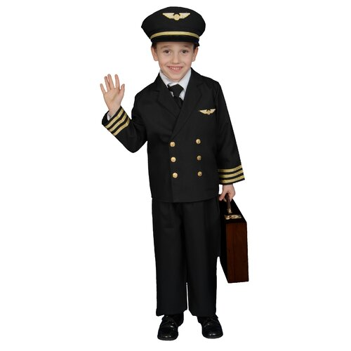 Dress Up America Pilot Boy Jacket Children's Costume