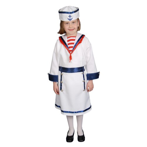 Dress Up America Deluxe Sailor Girl Children's Costume Set
