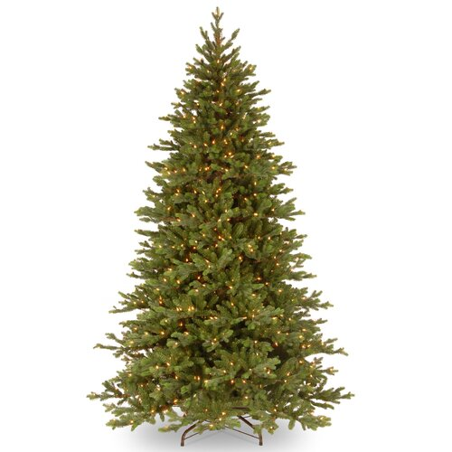 National Tree Co. Pre-Lit 7.5' Green Yukon Fir Artificial Christmas Tree with 750 Pre-Lit Clear Lights with Stand
