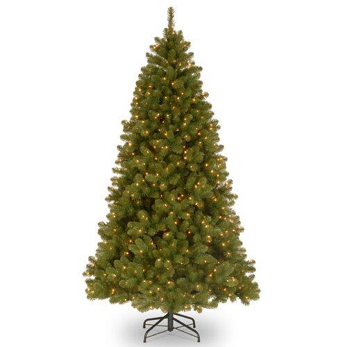 Douglas Fir Artificial Christmas Trees: Douglas Fir 9' Green Medium Hinged Memory Artificial