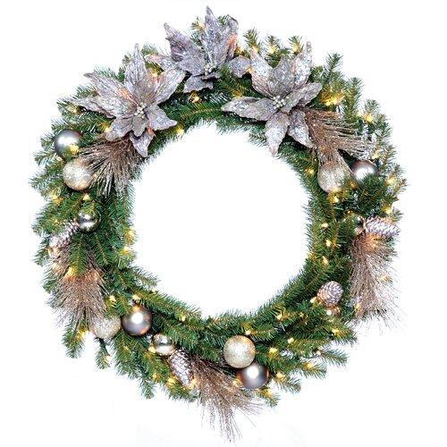 "Pre Lit Christmas Tree Fuses: National Tree Co. Pre-Lit 30"" Kaleidoscope Wreath"