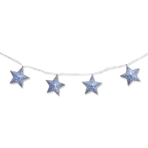 Pre-Lit Star Garland Christmas Decoration