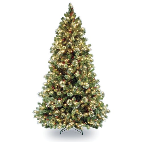 National Tree Co. Pre-lit 7' Pine Artificial Christmas Tree with 650 Clear Lights and Stand