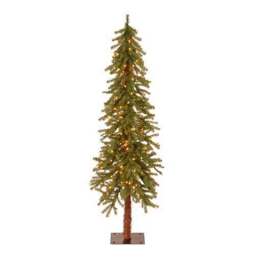 National Tree Co. Hickory Cedar 5' Green Artificial Christmas Tree with Pre-Lit Lights