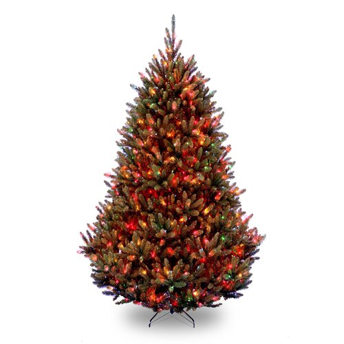 National Tree Co. Natural Fraser 7.5' Green Medium Fir Artificial Christmas Tree with 1000 Pre-Lit Multi-Colored Lights with Stand