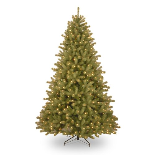 National Tree Co. Lakewood Spruce 7.5' Artificial Christmas Tree with 750 Pre-Lit Clear Lights with Stand